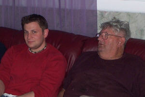 craig and grandpa on the new couch